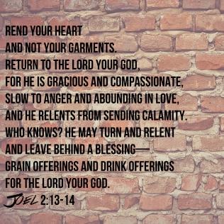 Joel 2 Rend your heart 1