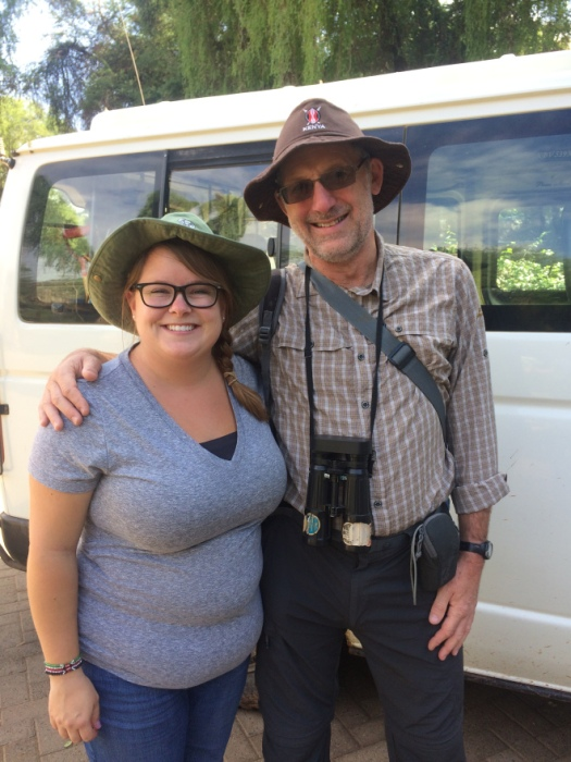 My safari tour guide, haha just kidding! Stuart & I needed a picture with our matching tourist hats.